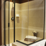Framed Hinged Door with Glass-to-Glass Corner